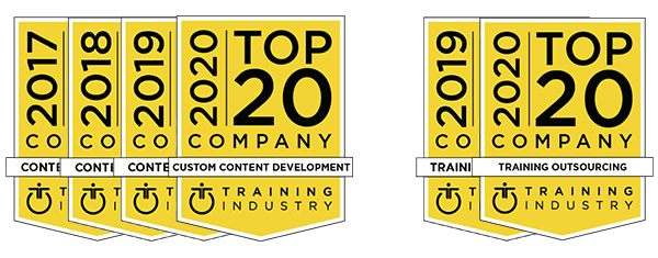 Training Industry Top 20 Companies Awards
