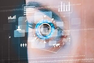 Future woman with cyber technology eye panel concept-1