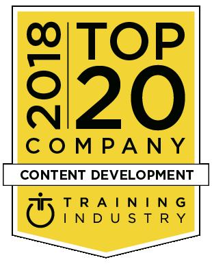 Training Industry Top 20 Content Development