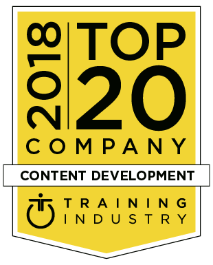 Training Industry Top 20 Content Development