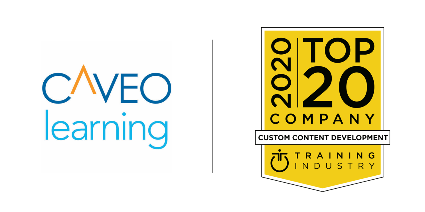Caveo Named to 2020 Training Industry Top 20 Custom Content Development List