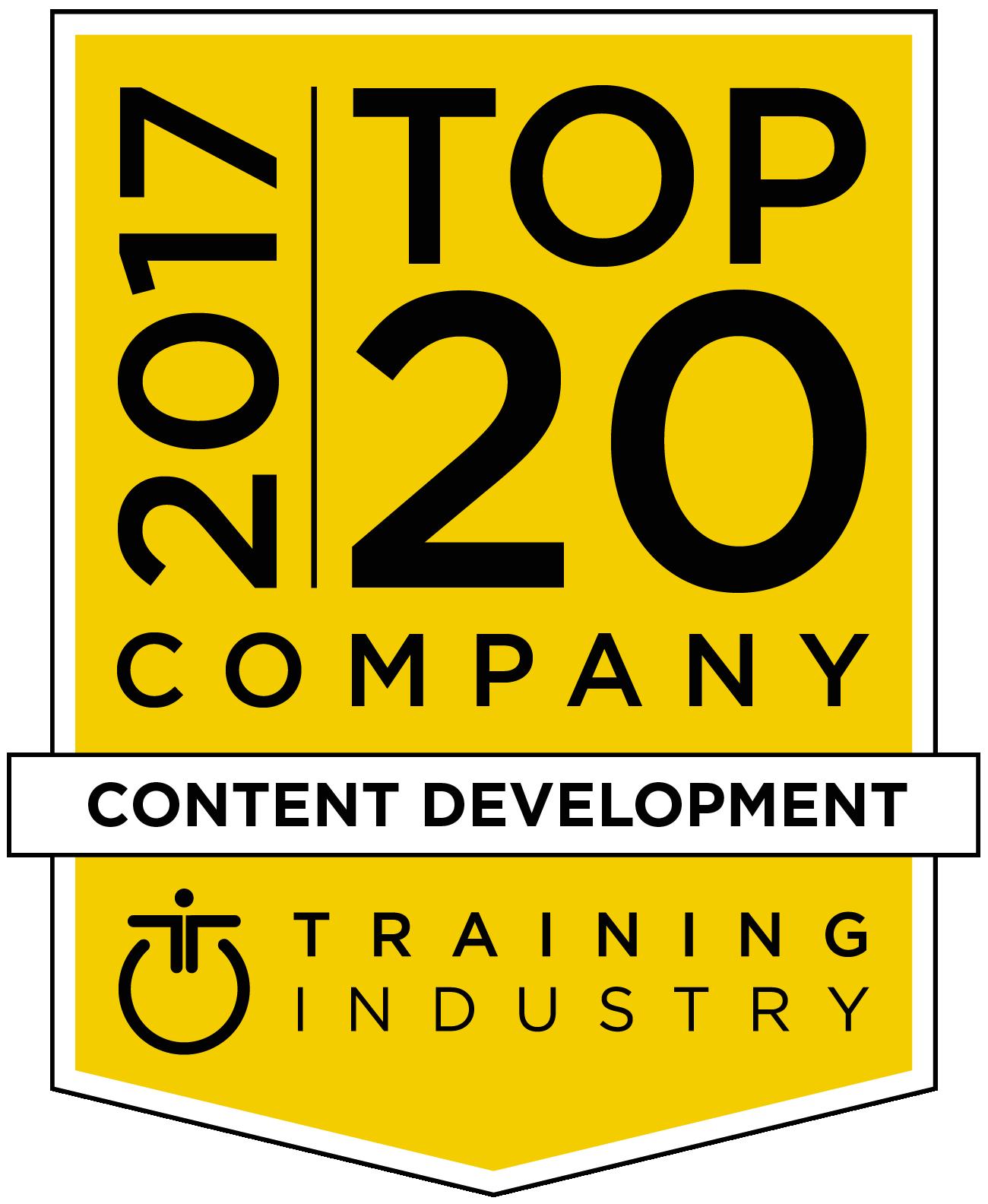 2017 Top 20 Content Development Companies